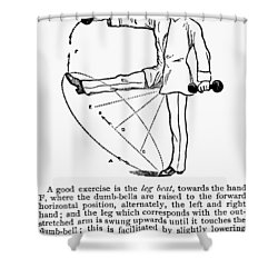 Exercise, 19th Century Shower Curtain by Granger