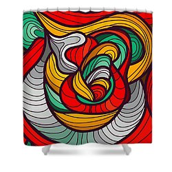 Faces Shower Curtain by Don Kuing