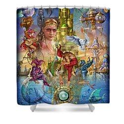 Fantasy Island Shower Curtain by Ciro Marchetti