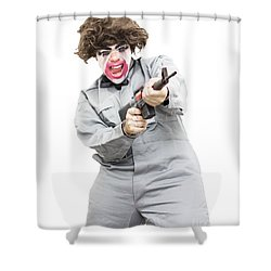 Female Psycho Killer Shower Curtain by Jorgo Photography - Wall Art Gallery