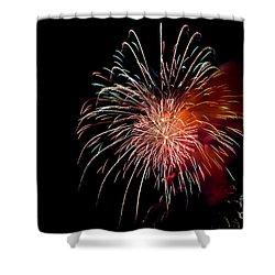 Fireworks Shower Curtain by Grace Grogan
