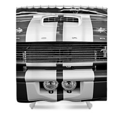 Ford Mustang Grille Emblem Shower Curtain by Jill Reger