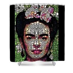 Frida Kahlo Art - Define Beauty Shower Curtain by Sharon Cummings