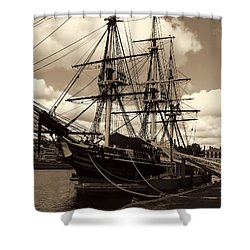 Friendship Of Salem Shower Curtain by Lourry Legarde