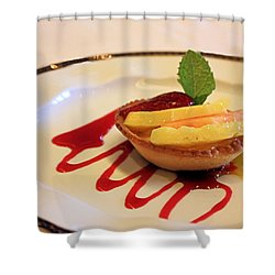 Fruit Tart Shower Curtain by Kristin Elmquist