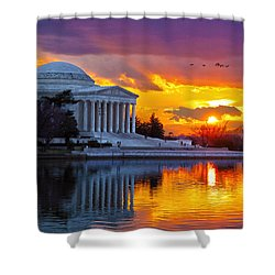 Glow Shower Curtain by Mitch Cat