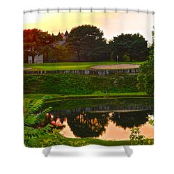 Golf Course Beauty Shower Curtain by Frozen in Time Fine Art Photography