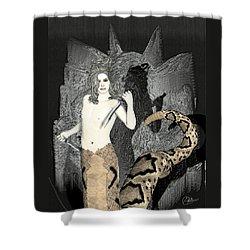 Gorgon Medusa  Shower Curtain by Quim Abella