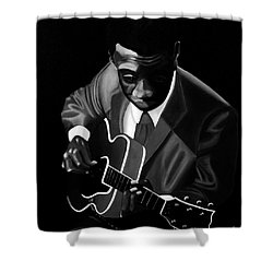 Grant Green Shower Curtain by Barbara McMahon