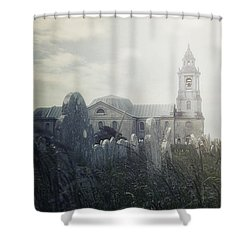 Graveyard Shower Curtain by Joana Kruse
