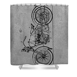 Harley Patent Shower Curtain by Dan Sproul