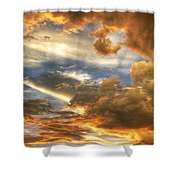 Heavenly Skies  Shower Curtain by Saija  Lehtonen