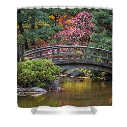 Japanese Bridge Shower Curtain by Sebastian Musial