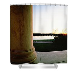 Jefferson Memorial Washington Dc Usa Shower Curtain by Panoramic Images