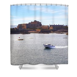 Jersey - Elizabeth Castle Shower Curtain by Joana Kruse