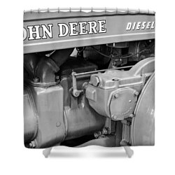 John Deere Diesel Shower Curtain by Susan Candelario