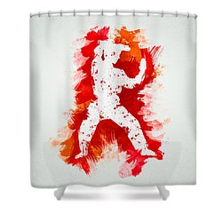 Karate Fighter Shower Curtain by Aged Pixel