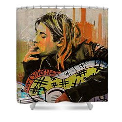 Kurt Cobain Shower Curtain by Corporate Art Task Force