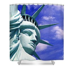 Lady Liberty Shower Curtain by Jon Neidert