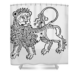 Leo An Illustration From The Poeticon Shower Curtain by Italian School