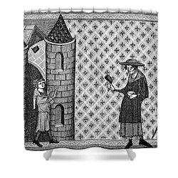 Leper House, C1220-1244 Shower Curtain by Granger
