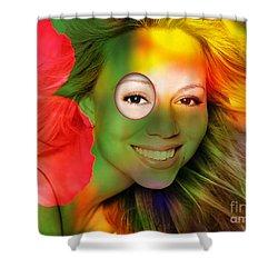 Mariah Carey Shower Curtain by Marvin Blaine