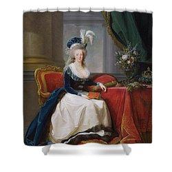 Marie Antoinette Shower Curtain by Elisabeth Louise Vigee-Lebrun