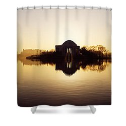 Memorial At The Waterfront, Jefferson Shower Curtain by Panoramic Images