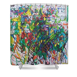 Meriting The Multitudes Shower Curtain by David Baruch Wolk