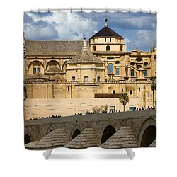 Mezquita Cathedral In Cordoba Shower Curtain by Artur Bogacki
