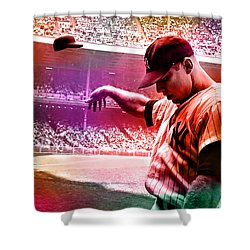Mickey Mantle Shower Curtain by Marvin Blaine