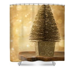 Miniature Christmas Tree Shower Curtain by Amanda Elwell