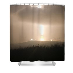 Shower Curtain featuring the photograph Minuteman IIi Missile Test by Science Source