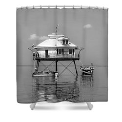 Mobile Bay Lighthouse Shower Curtain by Mountain Dreams
