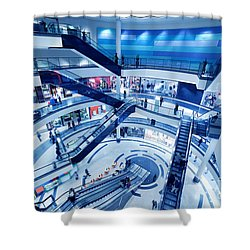 Modern Shopping Mall Interior Shower Curtain by Michal Bednarek