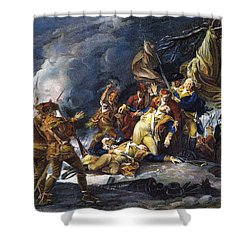 Montgomerys Death, 1775 Shower Curtain by Granger