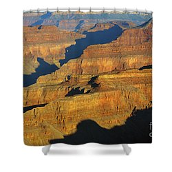 Morning Color And Shadow Play In Grand Canyon National Park Shower Curtain by Shawn O'Brien