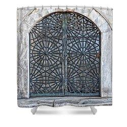 Mosque Window Shower Curtain by Antony McAulay