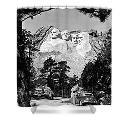 Mount Rushmore In South Dakota Shower Curtain by Underwood Archives