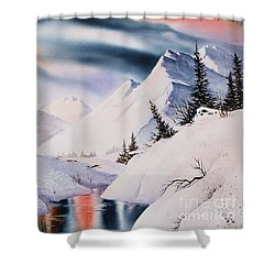 Mountain Majesty Shower Curtain by Teresa Ascone