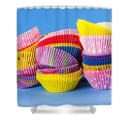 Muffin Cups Shower Curtain by Elena Elisseeva