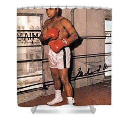 Muhammad Ali Shower Curtain by Unknown