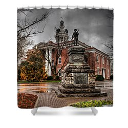 Murfreesboro Town Hall Shower Curtain by Brett Engle