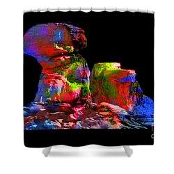 Mushroom Rock Shower Curtain by Gunter Nezhoda