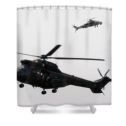My Little Friend Shower Curtain by Paul Job