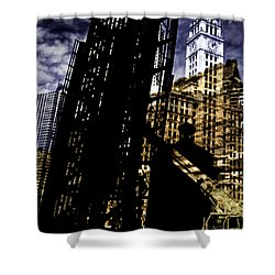 My Two Worlds Spires Shower Curtain by Paul Shefferly