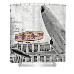 National Champions Shower Curtain by Scott Pellegrin