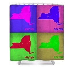 New York Pop Art Map 1 Shower Curtain by Naxart Studio