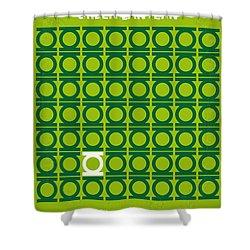 No120 My Green Lantern Minimal Movie Poster Shower Curtain by Chungkong Art