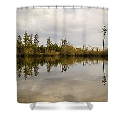 Perfect Lake Shower Curtain by Tim Hester